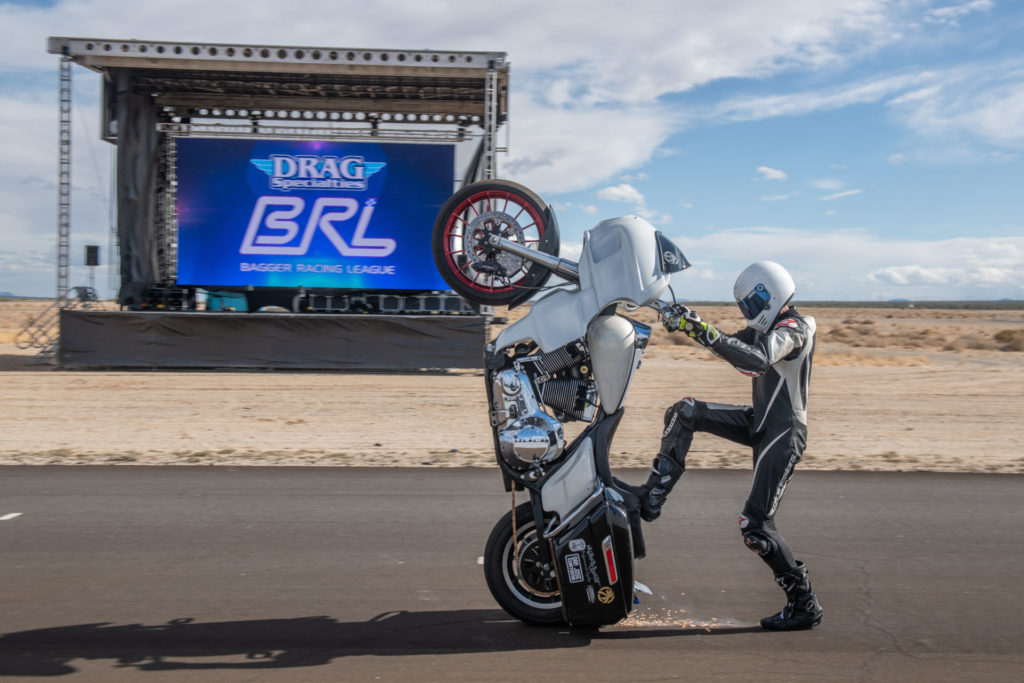 The Bagger Racing League will include a Stunt GP racing class and stunt shows. Photo by Justin George, courtesy BRL.