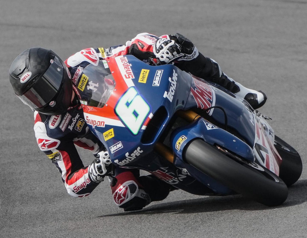 Cameron Beaubier (6) in action in Portugal. Photo courtesy American Racing Team.