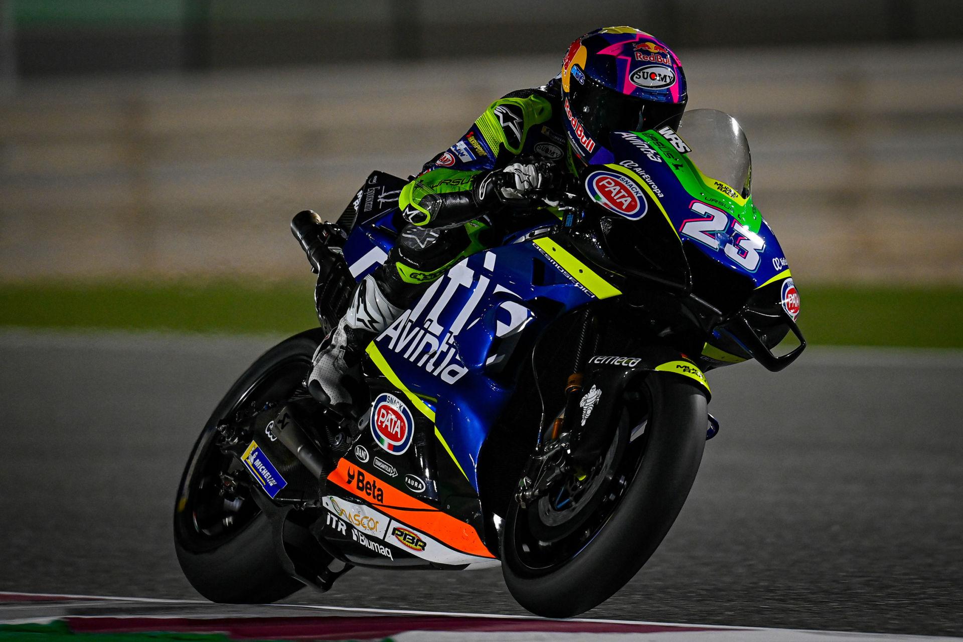 MotoGP rookie Enea Bastianini (23). Photo courtesy Dorna.