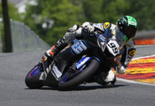 Nate Minster (99) as seen during the 2020 MotoAmerica Supersport Championship. Photo courtesy Pure Attitude Racing.