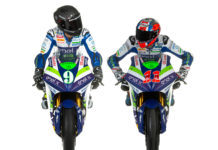 Team Gresini MotoE riders Andrea Mantovani (9) and Matteo Ferrari (11). Photo courtesy Gresini Racing.