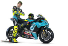 Valentino Rossi and his PETRONAS Yamaha SRT YZR-M1. Photo courtesy PETRONAS Yamaha SRT.