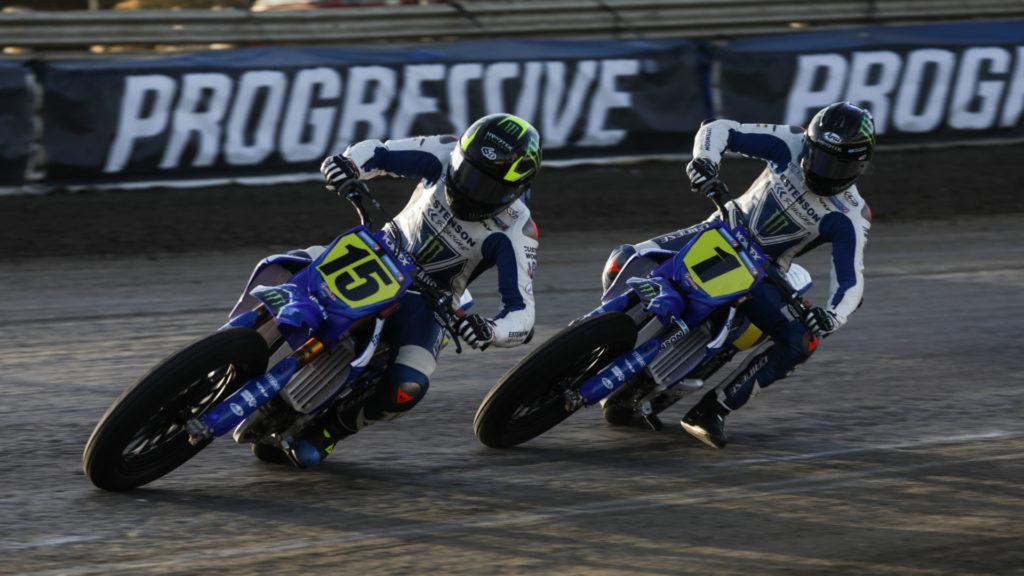 Estenson Racing's Mikey Rush (15) and Dallas Daniels (1). Photo courtesy  Yamaha Racing.