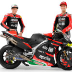 Aprilia Gresini MotoGP riders Aleix Espargaro (left) and Lorenzo Savadori (right). Photo courtesy Aprilia Gresini Racing.