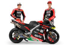Aprilia Gresini MotoGP riders Aleix Espargaro (left) and Lorenzo Savadori (right). Photo courtesy Aprilia Gresini Racing.