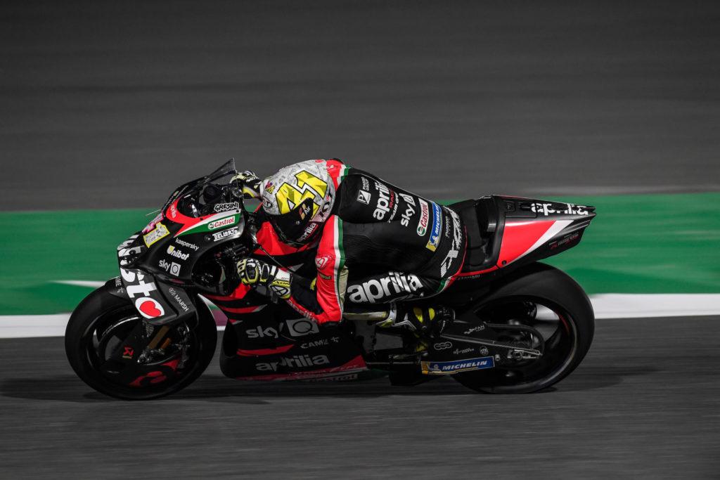 Aleix Espargaro (41). Photo courtesy Aprilia Gresini Racing