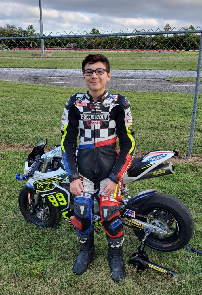 Nathon Bettencourt. Photo courtesy Warhorse HSBK Racing Ducati New York.