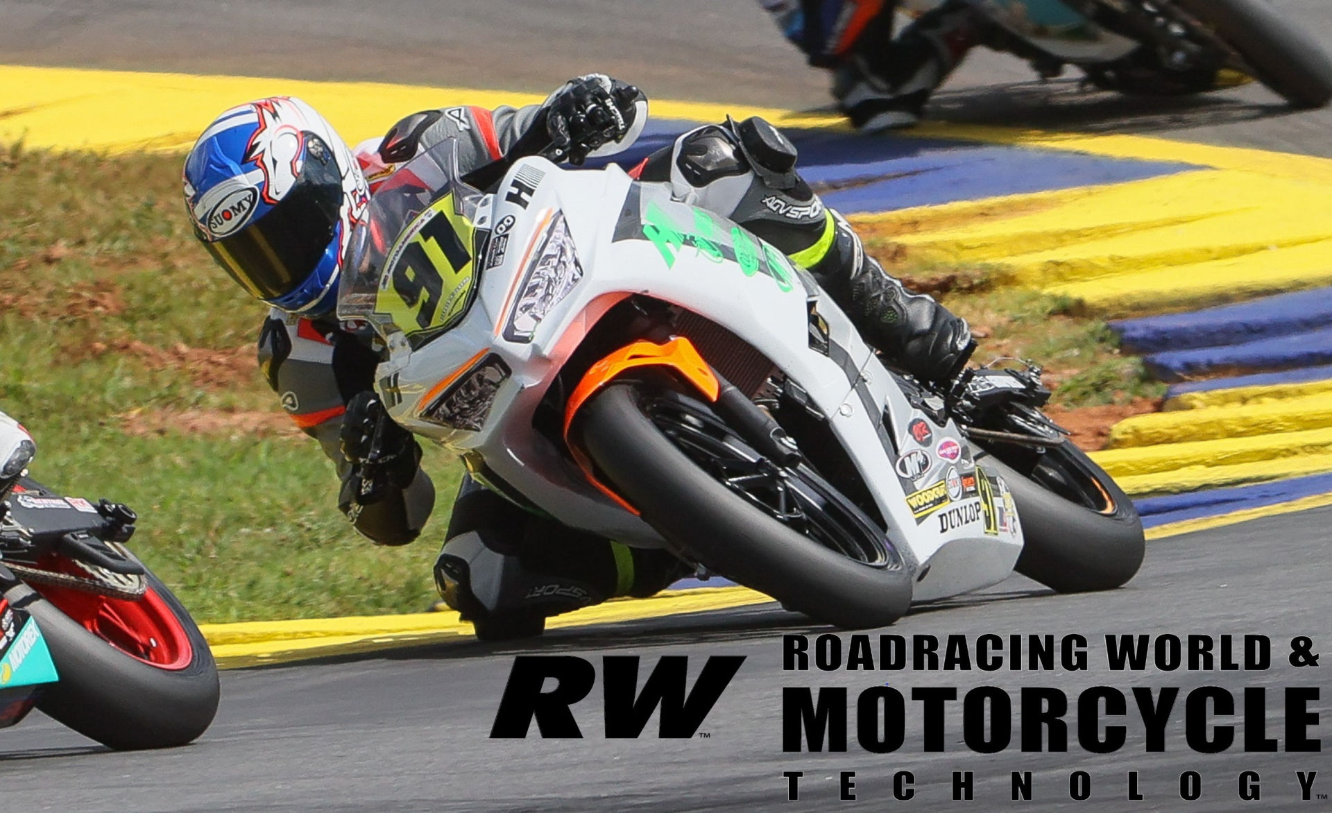 Isaiah Burleson (91) in action during a MotoAmerica Junior Cup race at Road Atlanta. Photo by Brian J. Nelson.