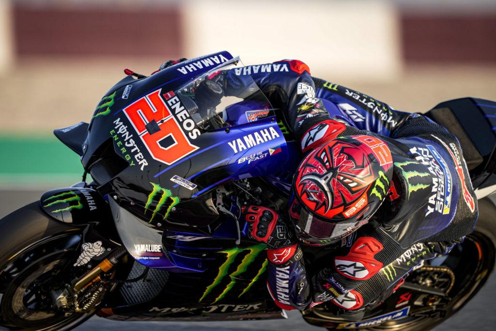 Fabio Quartararo (20). Photo courtesy Monster Energy Yamaha.