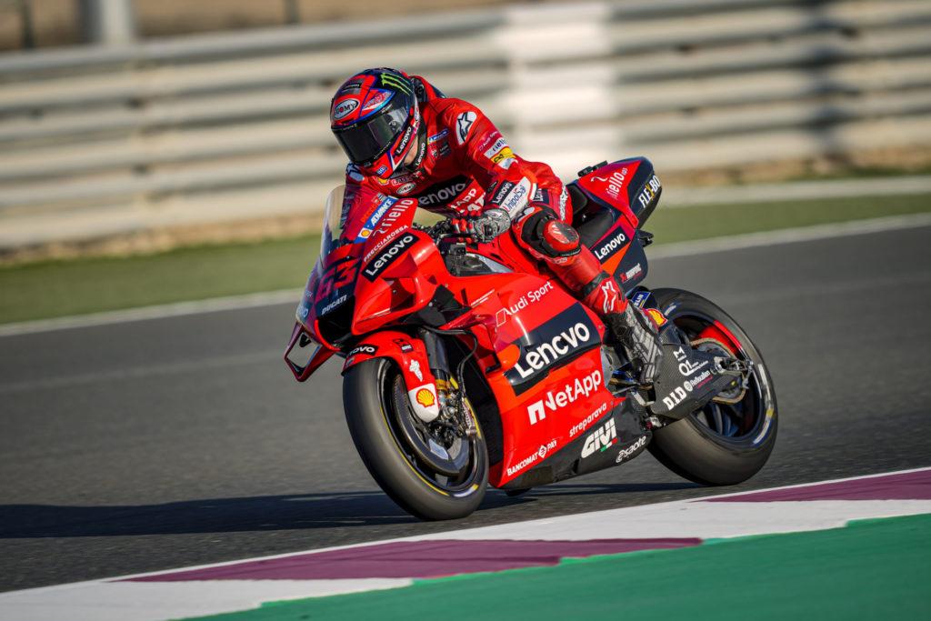 Francesco Bagnaia (63). Photo courtesy Ducati Lenovo Team.