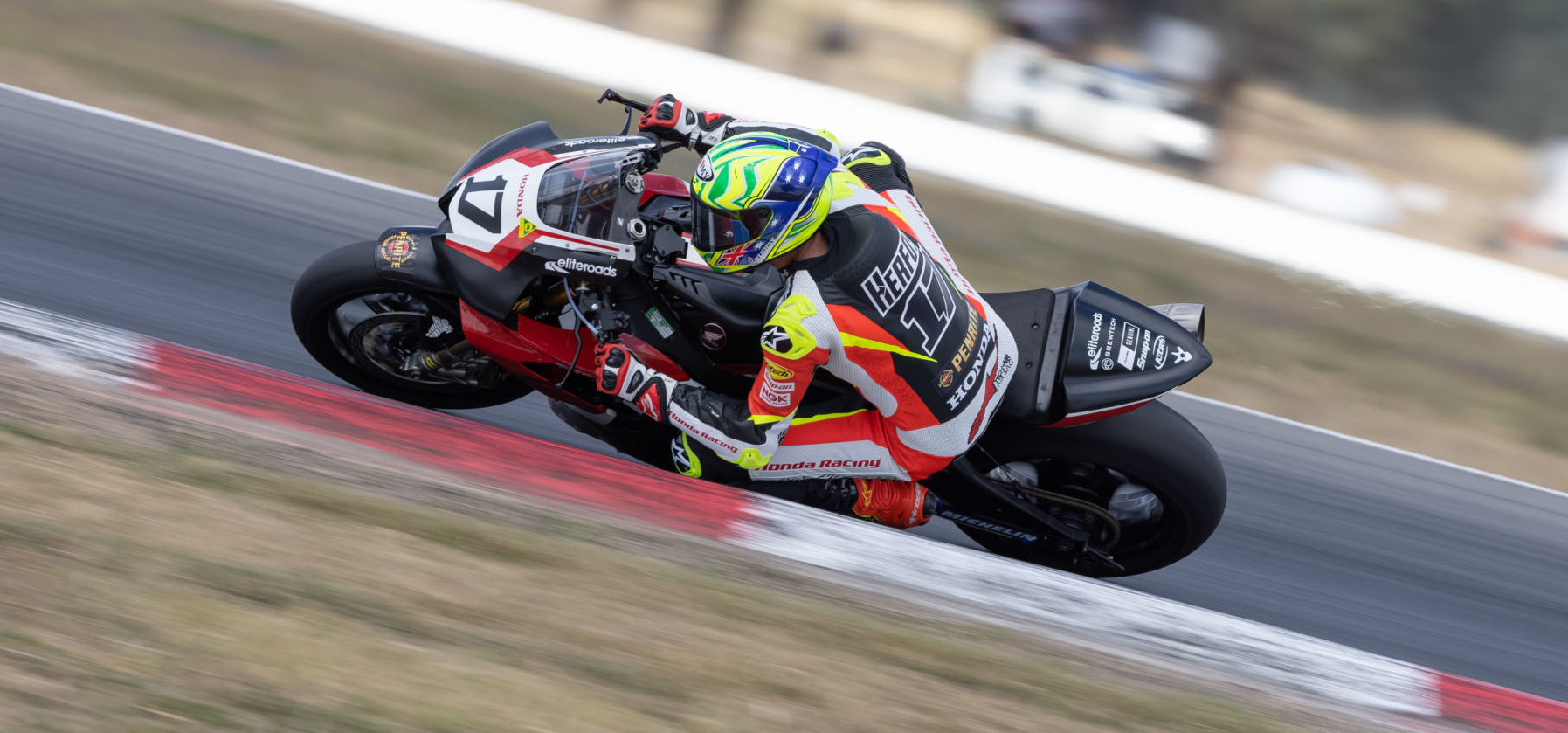Troy Herfoss (17) in action at Winton Motor Raceway. Photo by Andrew Gosling, courtesy ASBK.