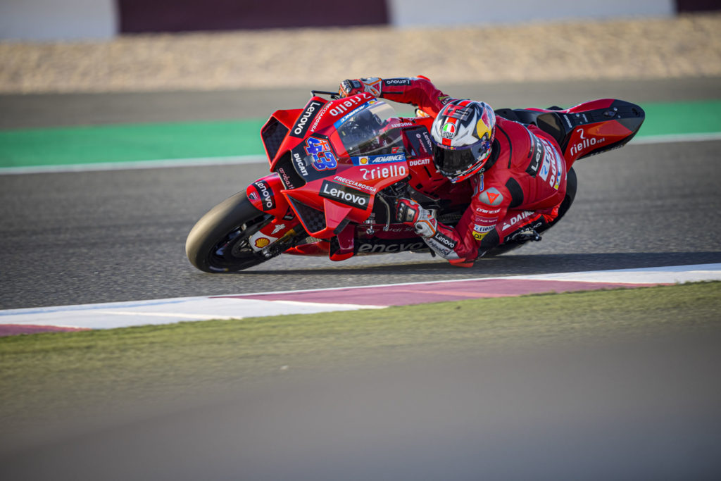 Jack Miller (43). Photo courtesy Ducati Lenovo Team.