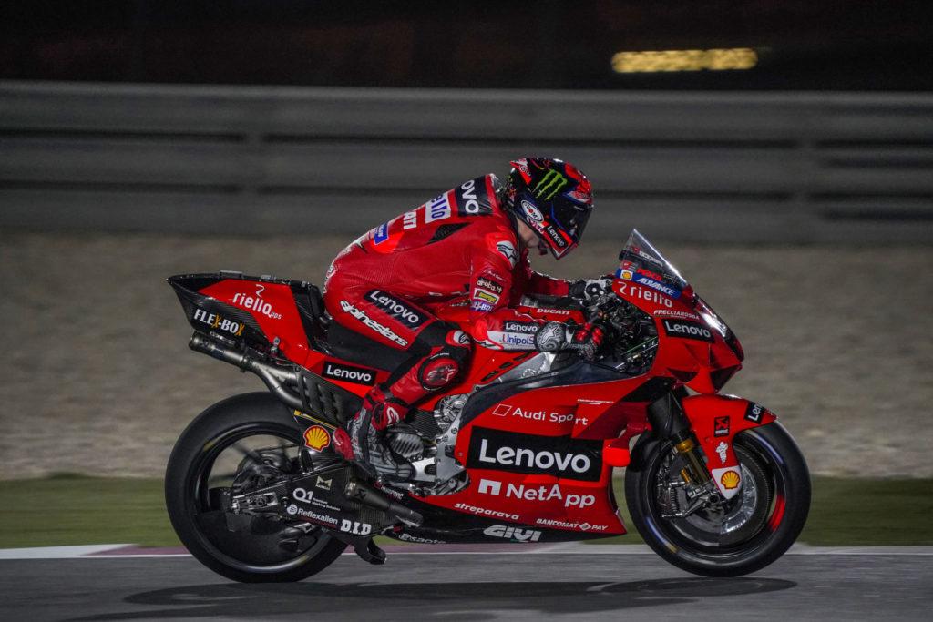 Francesco Bagnaia (63). Photo courtesy Ducati.