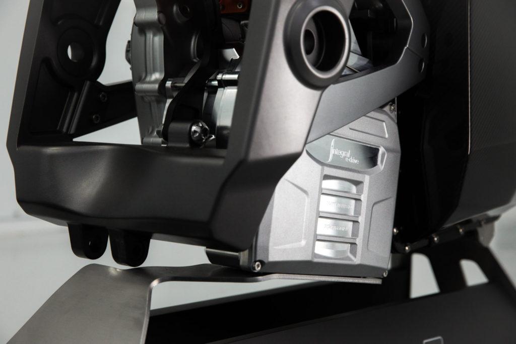Integral Powertrain Ltd.'s e-Drive electric motor/invertor unit from the right side. Photo courtesy Triumph.