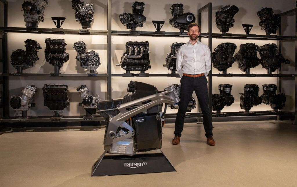 Andrew Cross, Chief Technical Officer at Integral Powertrain Ltd. Photo courtesy Triumph.
