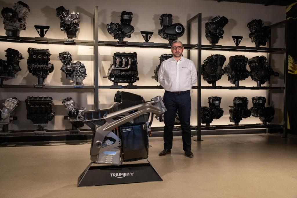 Dyrr Ardash, Senior Commercial Manager, Williams Advanced Engineering. Photo courtesy Triumph.