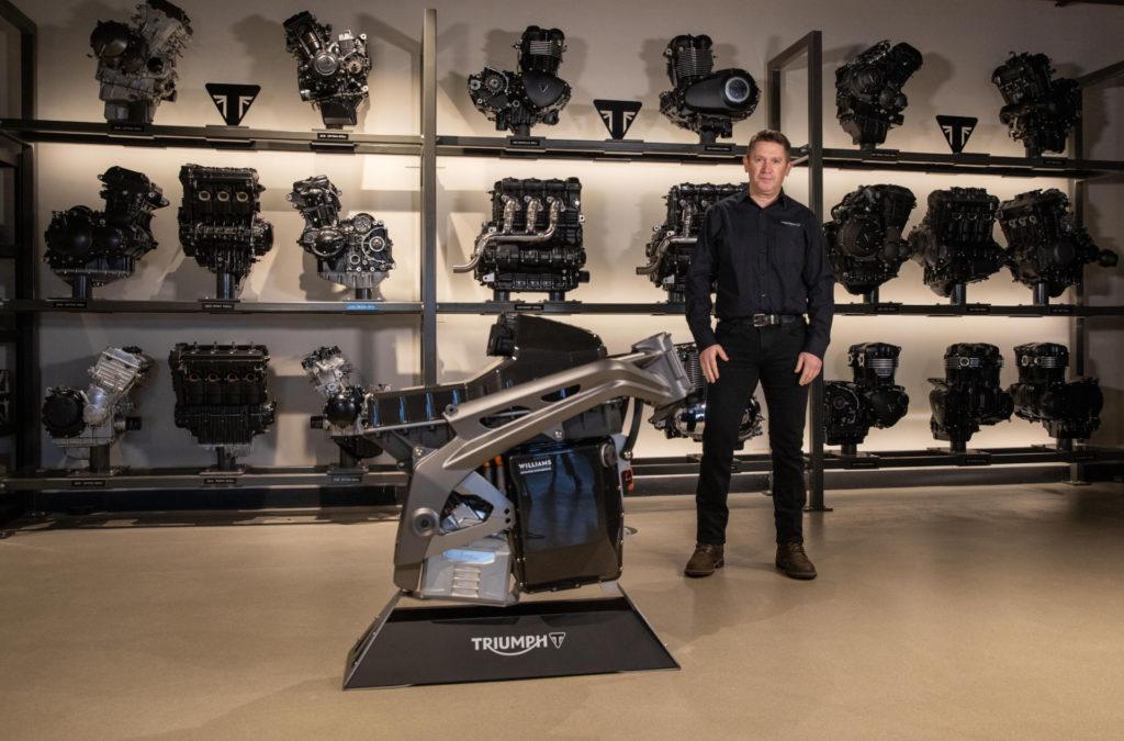 Steve Sargent, Triumph's Chief Product Officer. Photo courtesy Triumph.