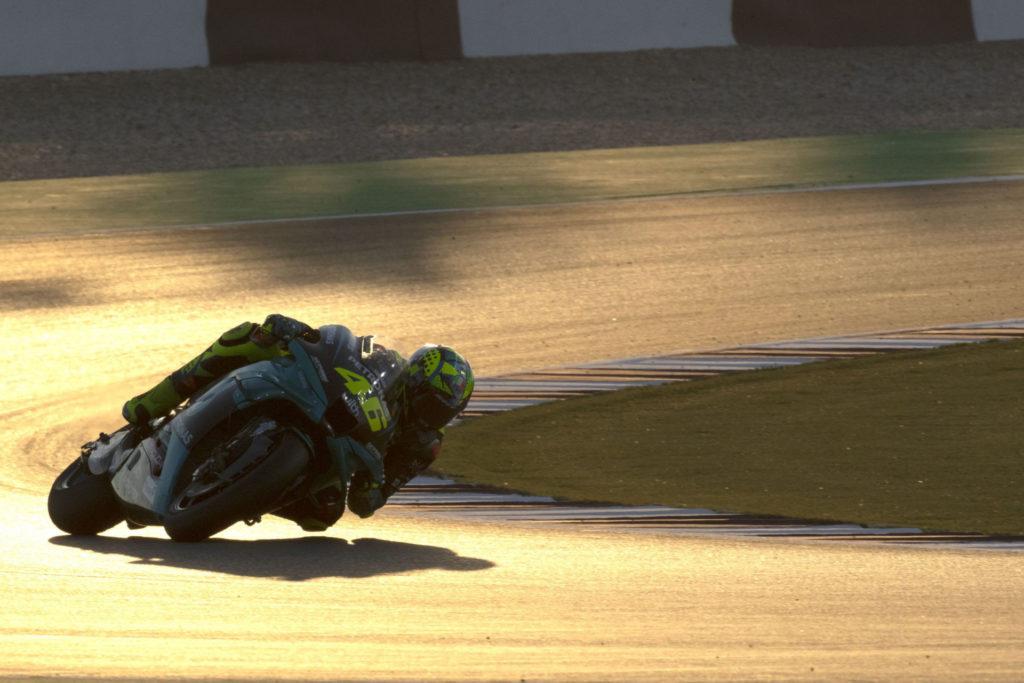 Valentino Rossi (46). Photo courtesy PETRONAS Yamaha SRT.