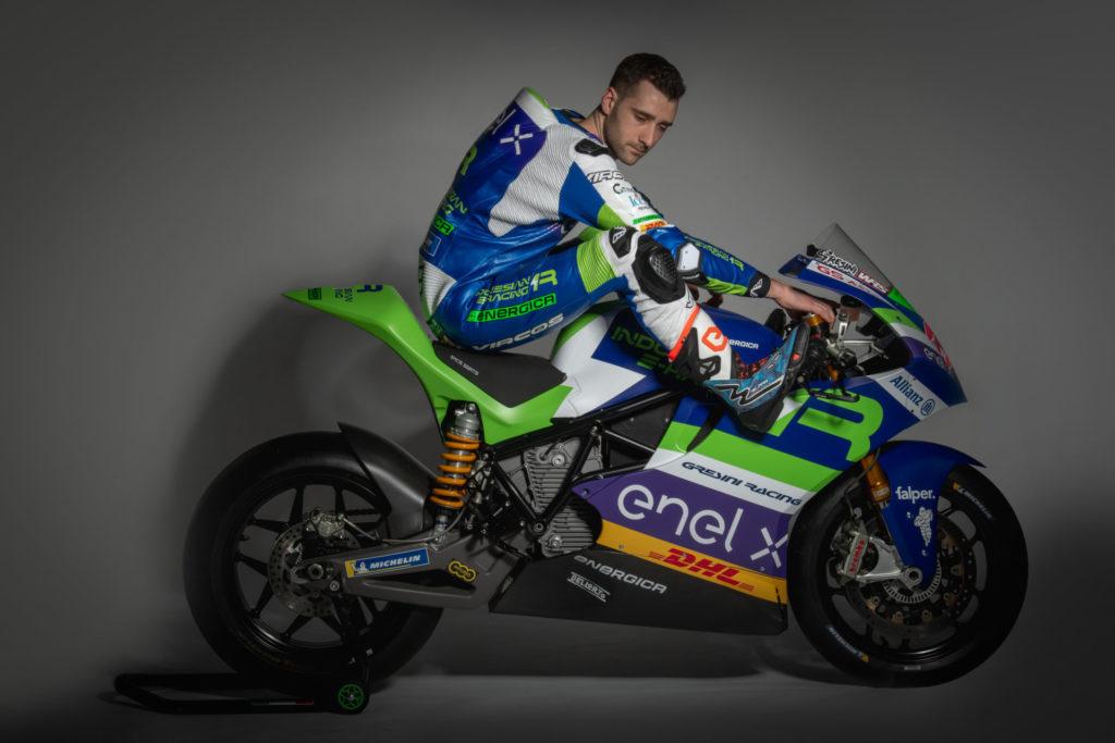 Team Gresini MotoE rider Matteo Ferrari (11). Photo courtesy Gresini Racing.
