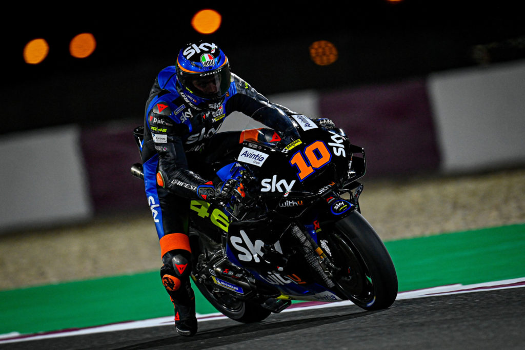 MotoGP rookie Luca Marini (10). Photo courtesy Dorna.