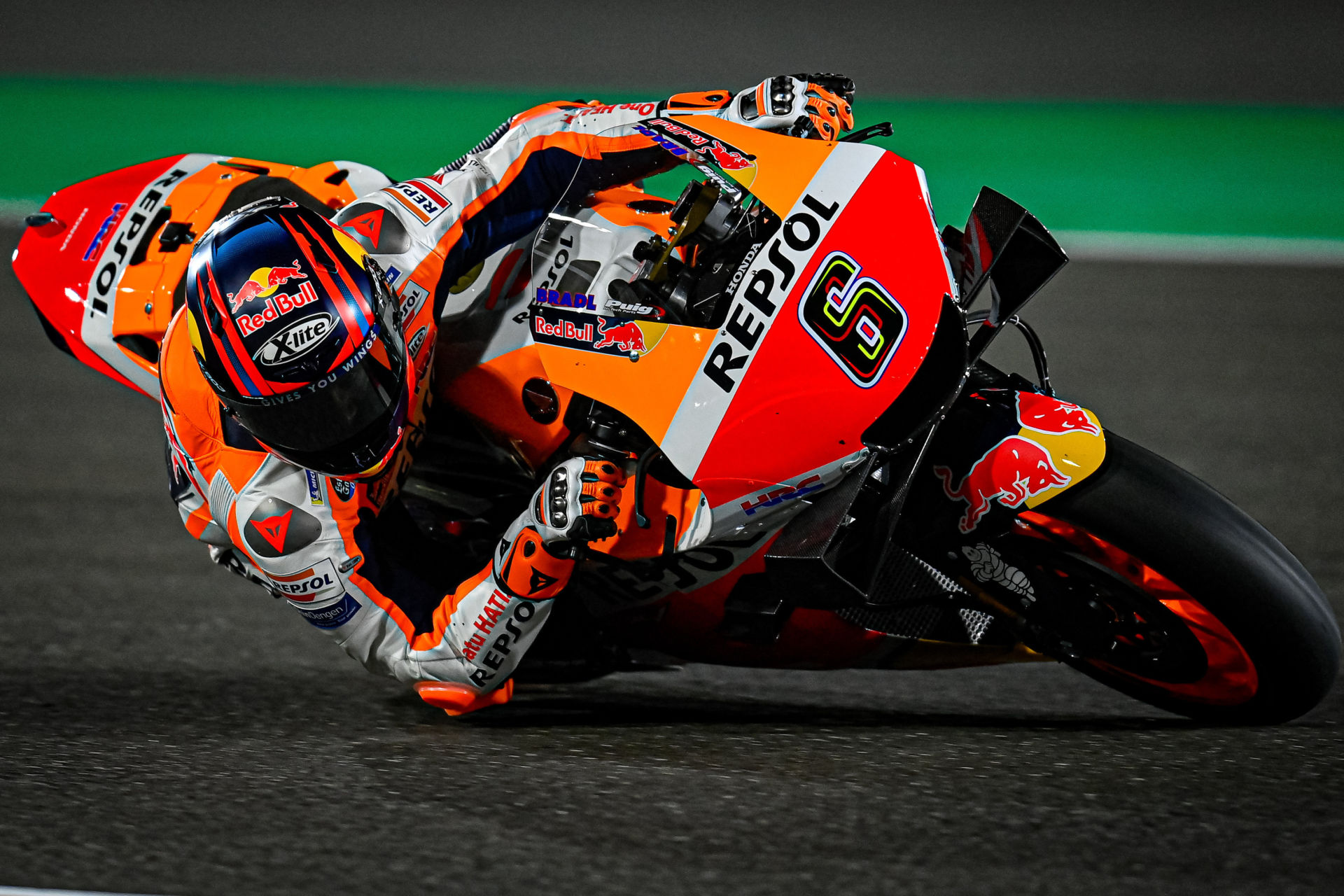 Stefan Bradl (6) was the quickest rider during the MotoGP shakedown test Friday in Qatar. Photo courtesy Dorna.