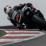 Jonathan Rea in action at Algarve International Circuit. Photo courtesy Kawasaki.