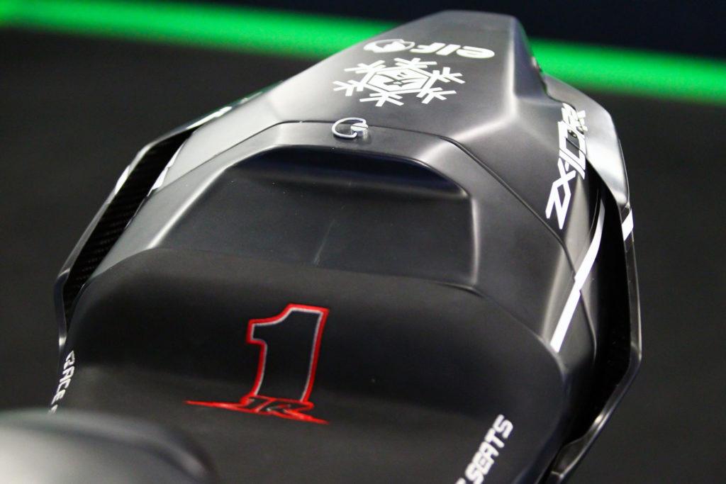 The new seat/tail unit on Jonathan Rea's 2021 Kawasaki ZX-10RR Superbike. Photo courtesy Kawasaki.