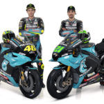 Valentino Rossi (left) with his new PETRONAS Yamaha Sepang Racing Team teammate Franco Morbidelli (right). Photo courtesy PETRONAS Yamaha SRT.
