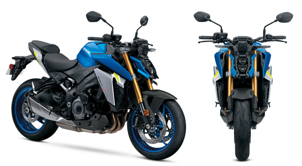 The 2022 Suzuki GSX-S1000 features new angular styling with an ergonomically comfortable,  yet sporty riding position. Photo courtesy Suzuki Motor USA, LLC.