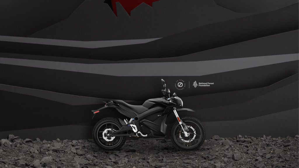 A 15th anniversary limited-edition Zero DSR electric motorcycle in Volcano. Photo courtesy Zero Motorcycles.