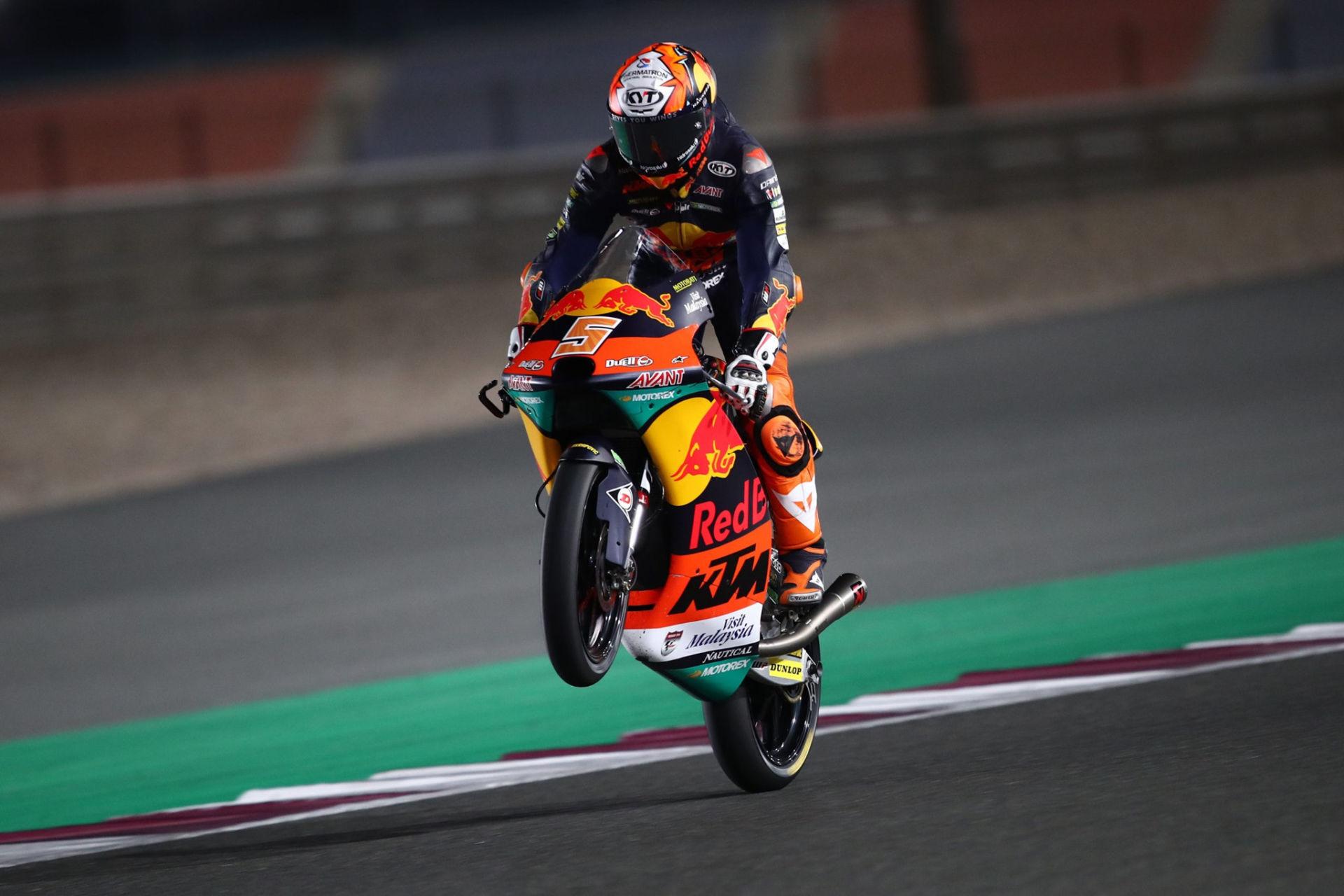 Jaume Masia (5). Photo courtesy Red Bull KTM Ajo.