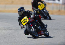 AHRMA racers Simon Brown (C85) and Mark Brown (C27) in action at Streets of Willow. Photo by etechphoto.com, courtesy AHRMA.