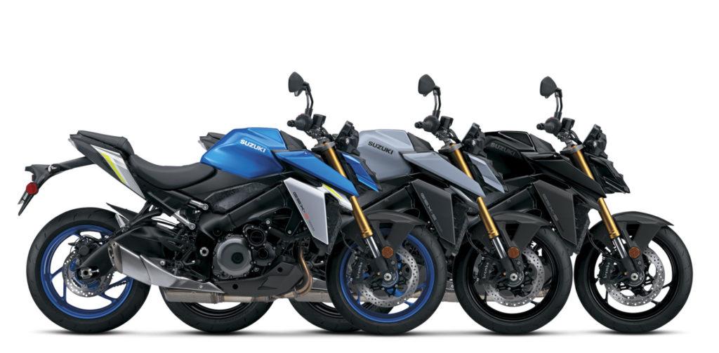 The 2022 Suzuki GSX-S1000 will be available in three different colors. Photo courtesy Suzuki Motor USA, LLC.