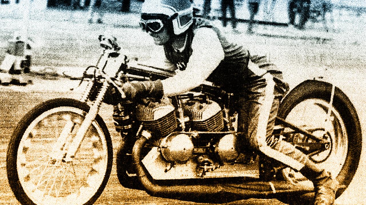 Drag racer Tony Nicosia. Photo courtesy AHRMA.
