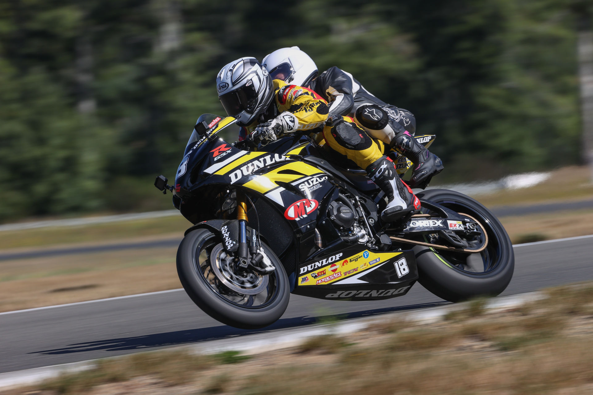 Chris Ulrich pilots the Dunlop Two-Seat Superbike during 2020. Photo By Brian J Nelson.
