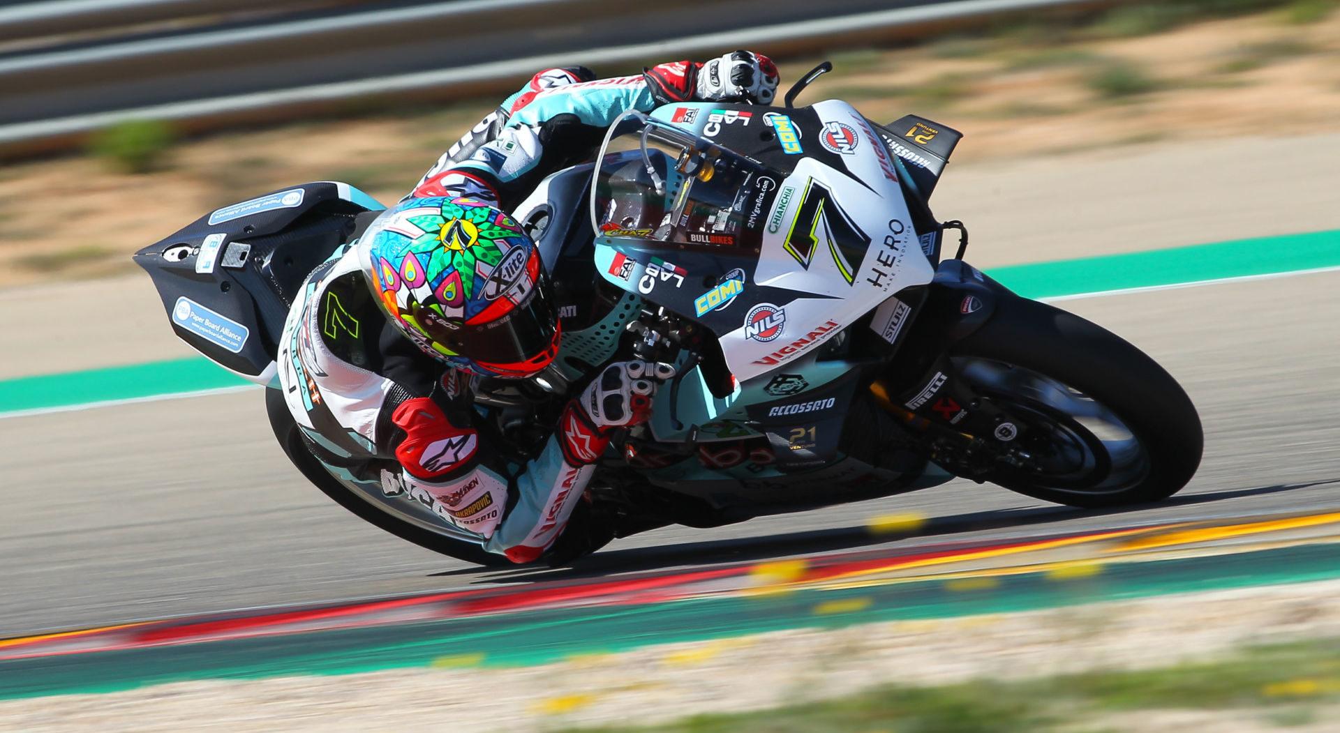 World Superbike: Davies P1, Gerloff P4 During Testing At Motorland Aragon