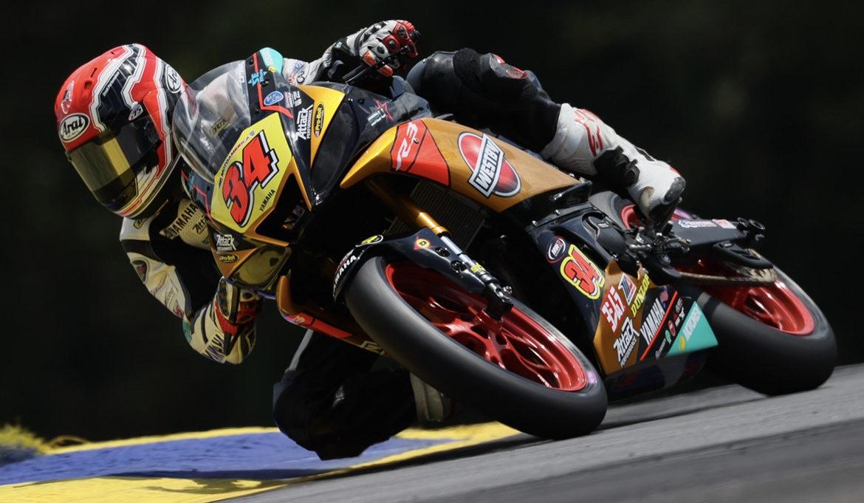 Cody Wyman (34), as seen on a Westby Racing Yamaha YZF-R3 in 2020. Photo by Brian J. Nelson, courtesy Cody Wyman.