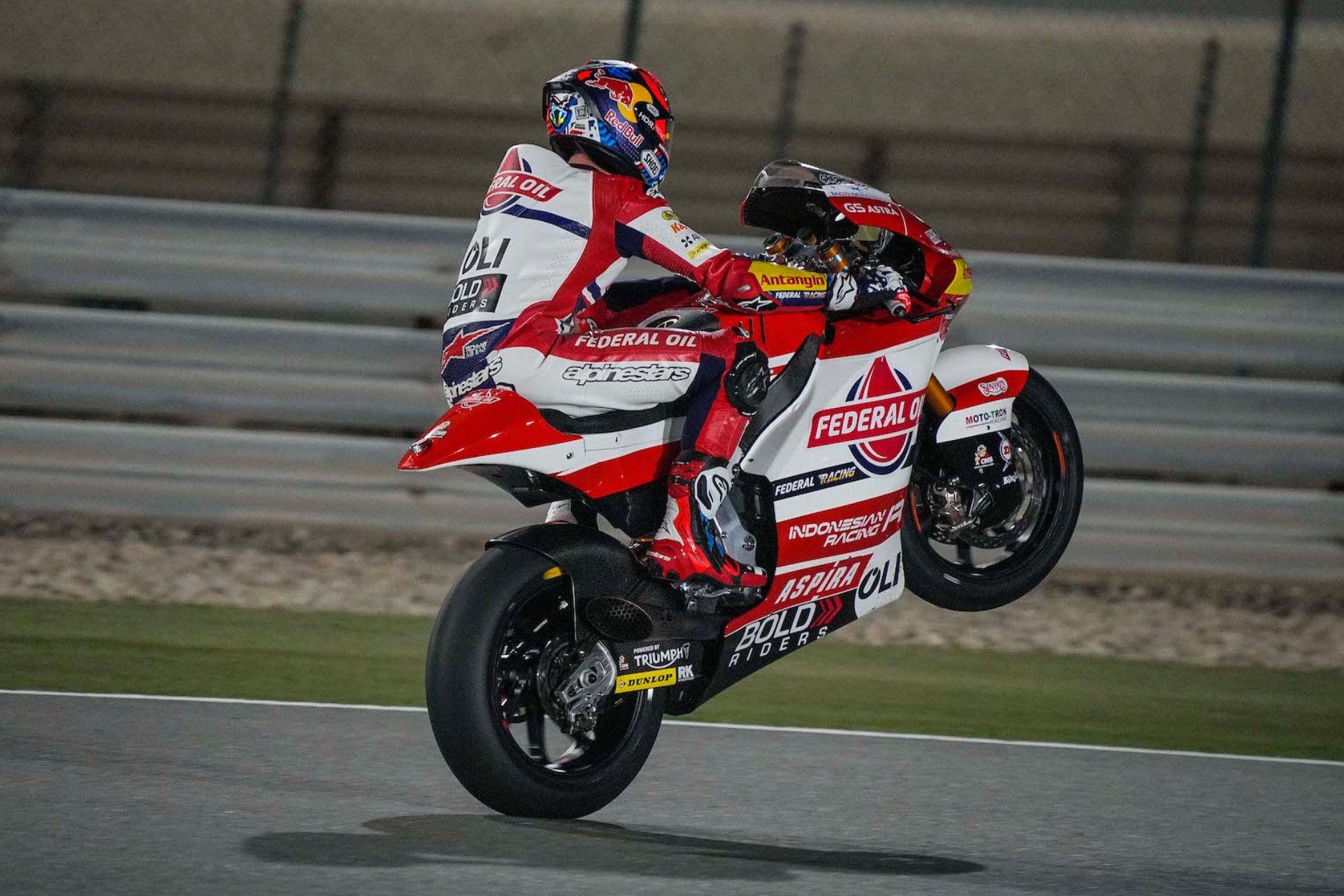 Fabio Di Giannantonio (21). Photo courtesy Federal Oil Gresini Racing.