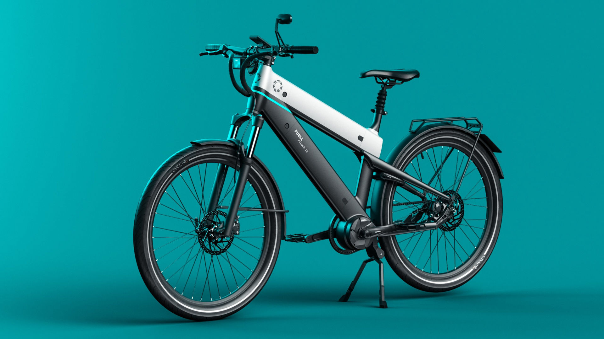 A FUELL Flluid 1-S electric bicycle, a.k.a. E-bike. Photo courtesy FUELL.