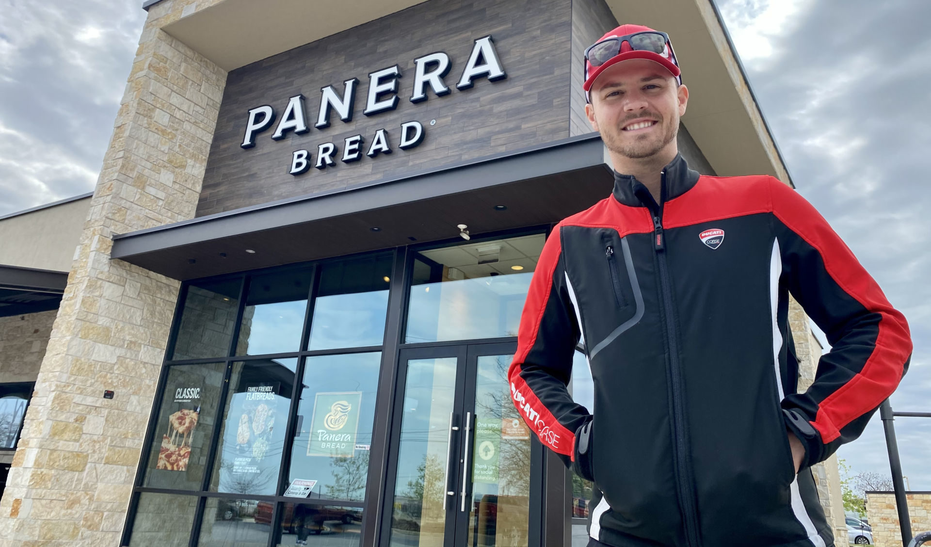 Panera Bread will be the title sponsor of Kyle Wyman and the KWR Ducati Team in 2021. Photo courtesy Panera Bread KWR Ducati.