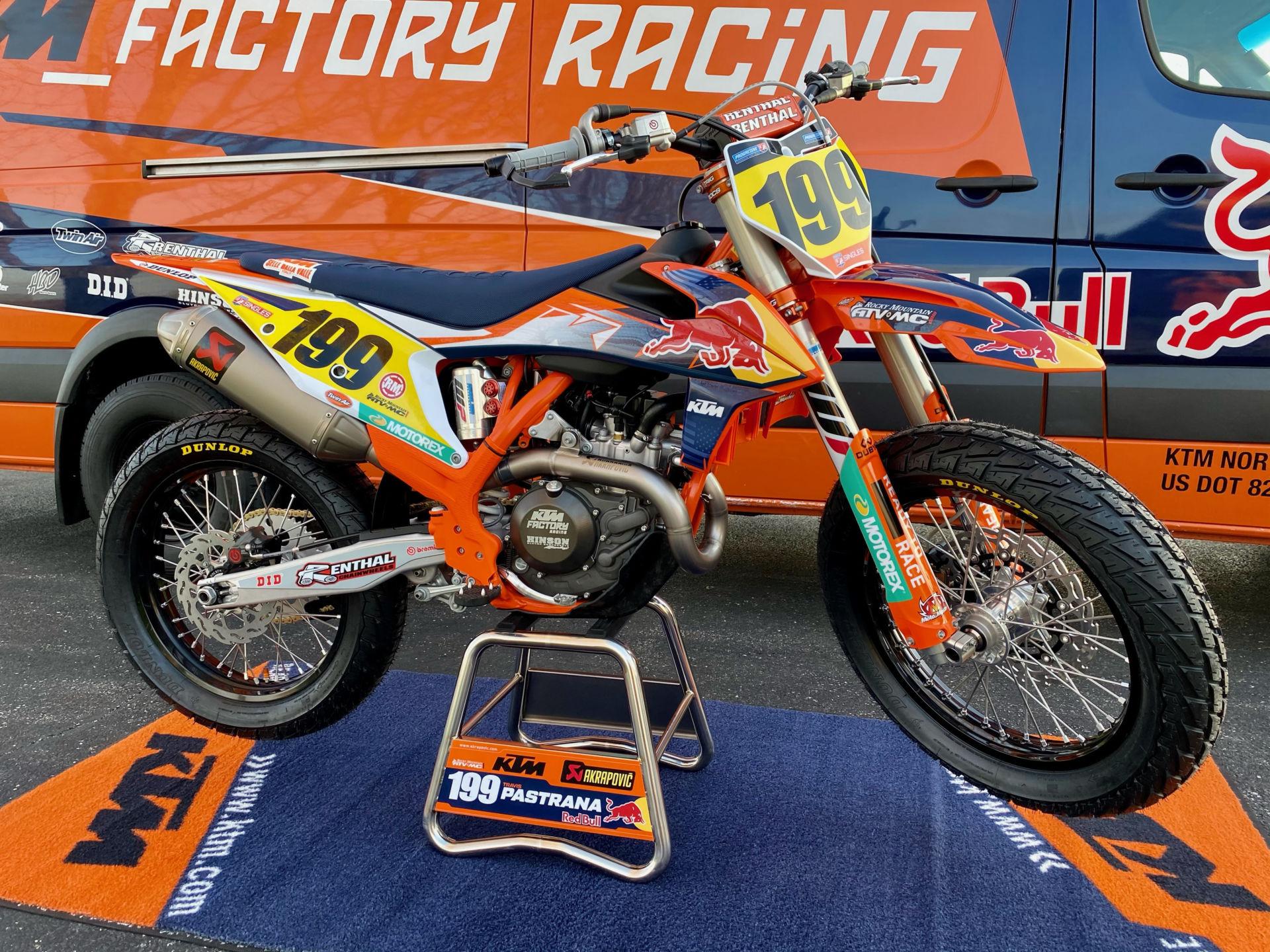Travis Pastrana's Red Bull KTM dirt tracker. Photo courtesy AFT.