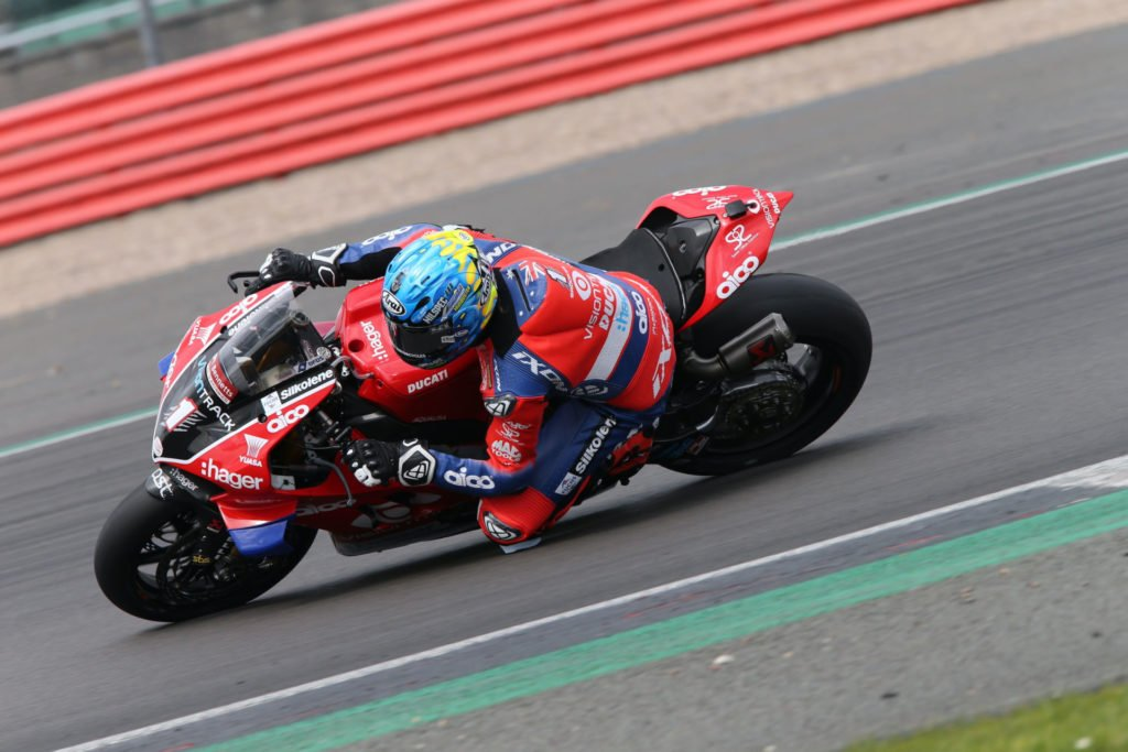 Josh Brookes (1). Photo by DoubleRed Photographic, courtesy VisionTrack Ducati.