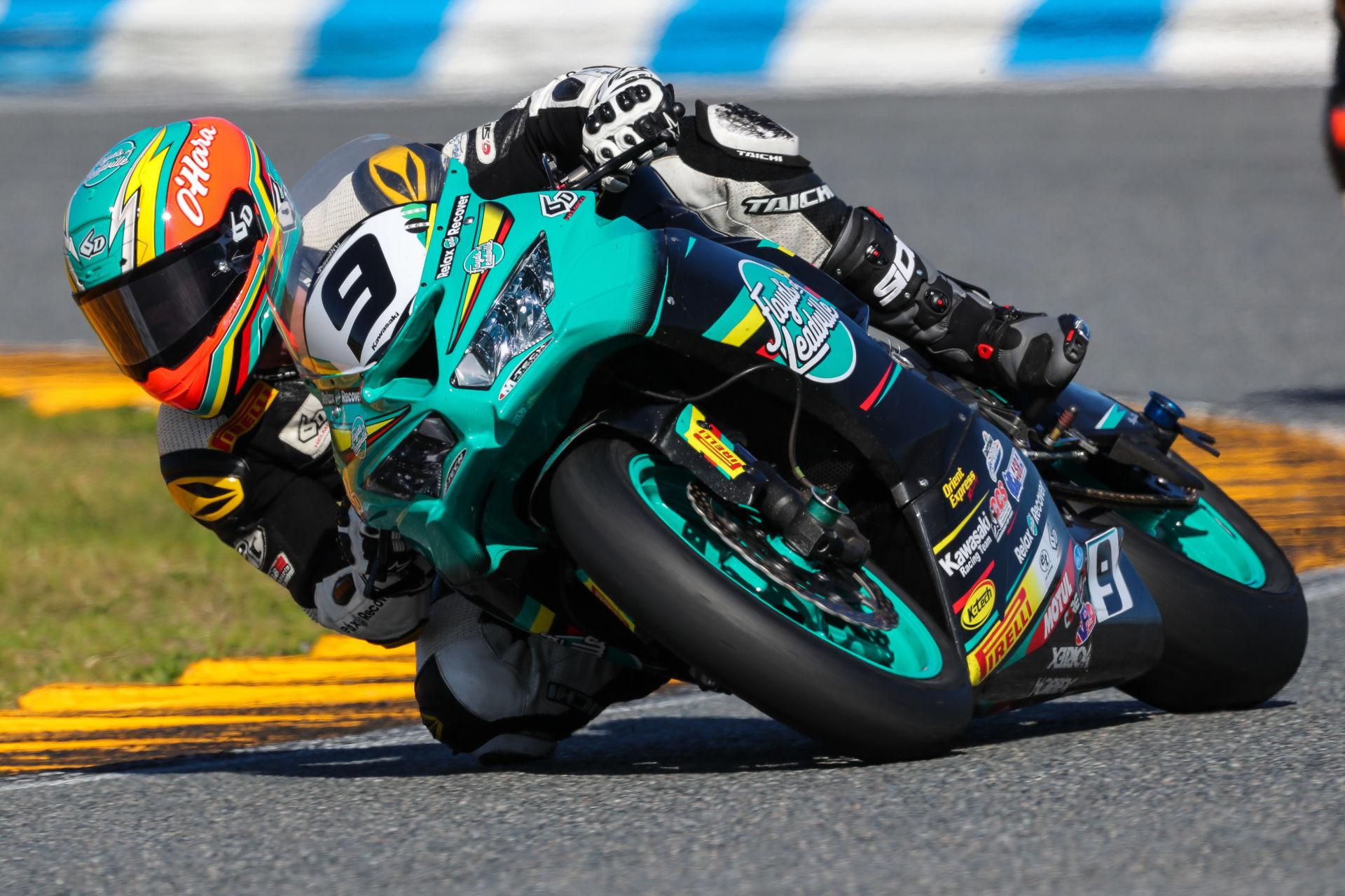Pirelli-sponsored racer Tyler O'Hara. Photo by Brian J. Nelson, courtesy Pirelli.