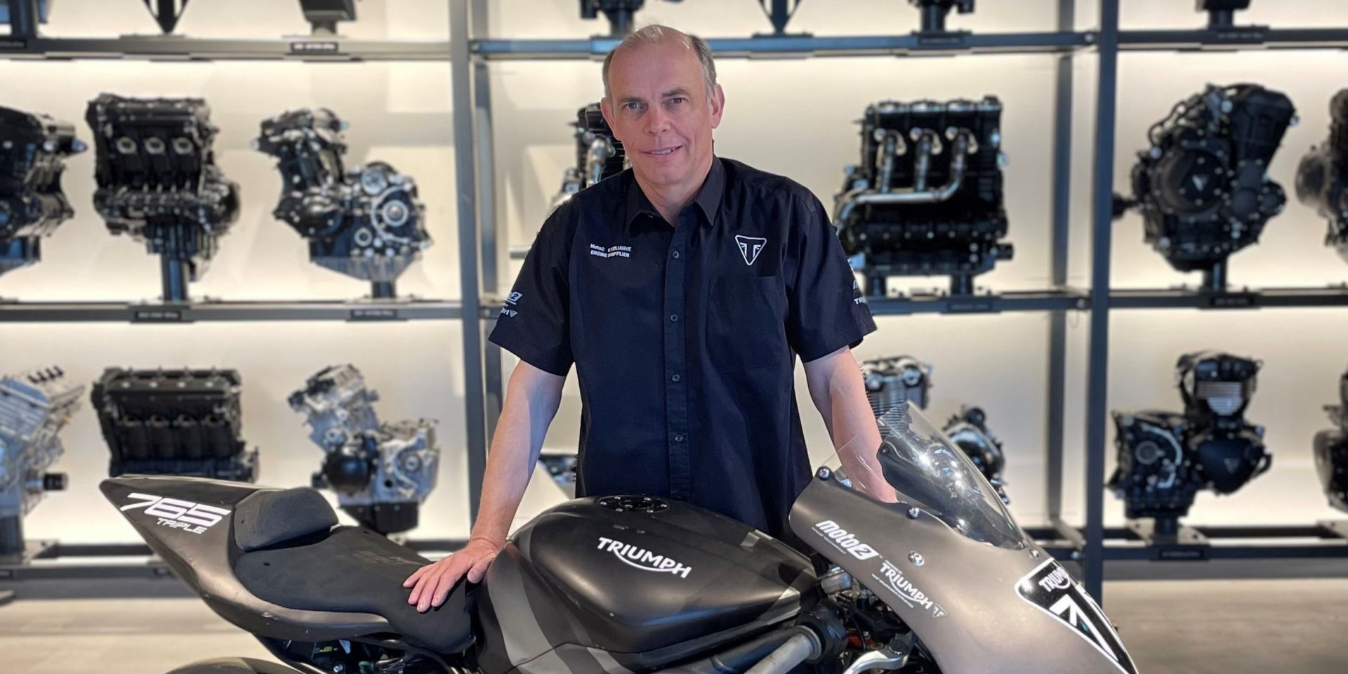 Triumph Global Racing Manager Jeremy Appleton. Photo courtesy Triumph Motorcycles.