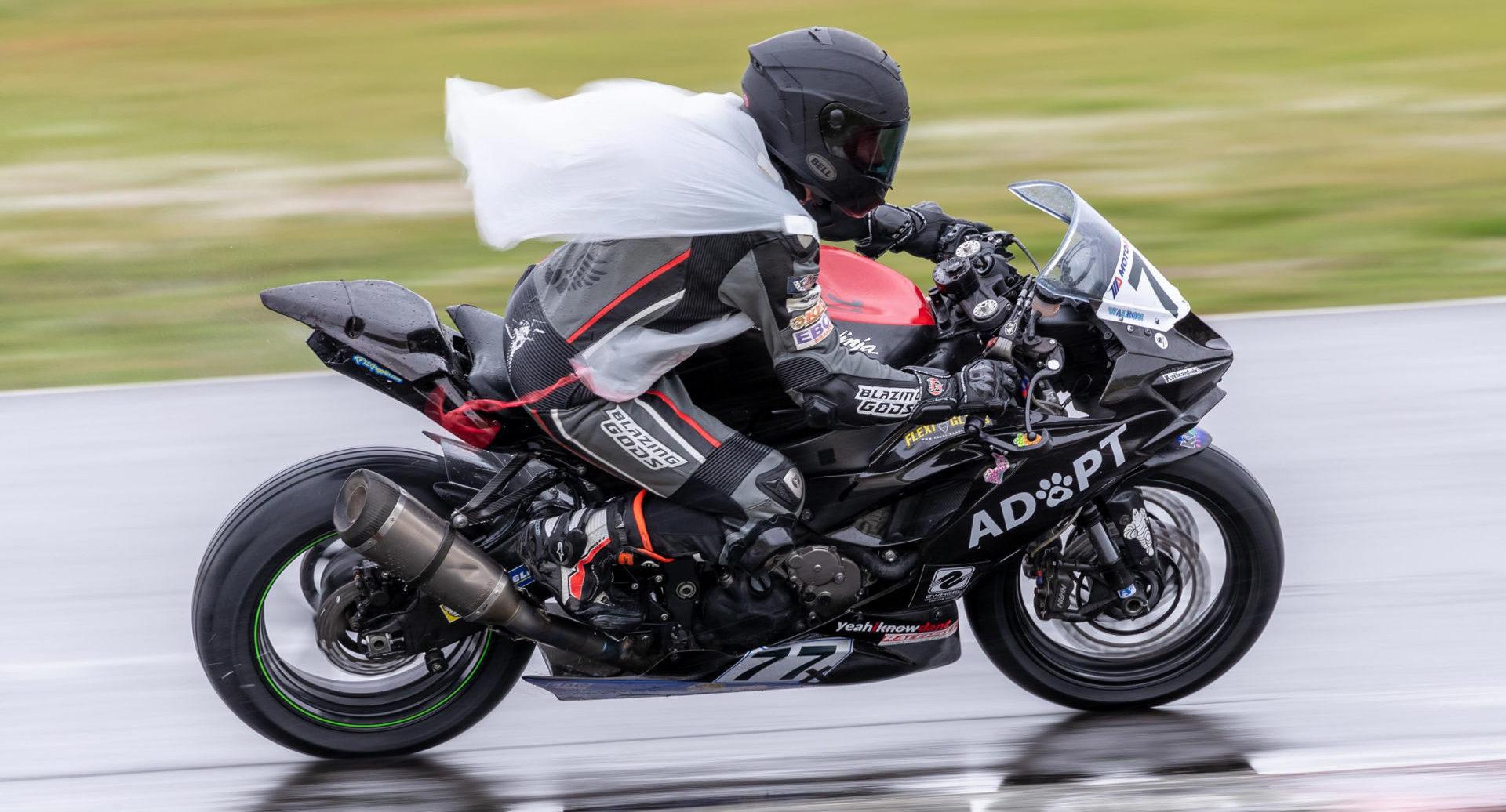 Dustin Walbon (177R) won five races on his Kawasaki ZX-6R. Photo by Minh-Tri Le/NW Focal Point Photography, courtesy OMRRA.