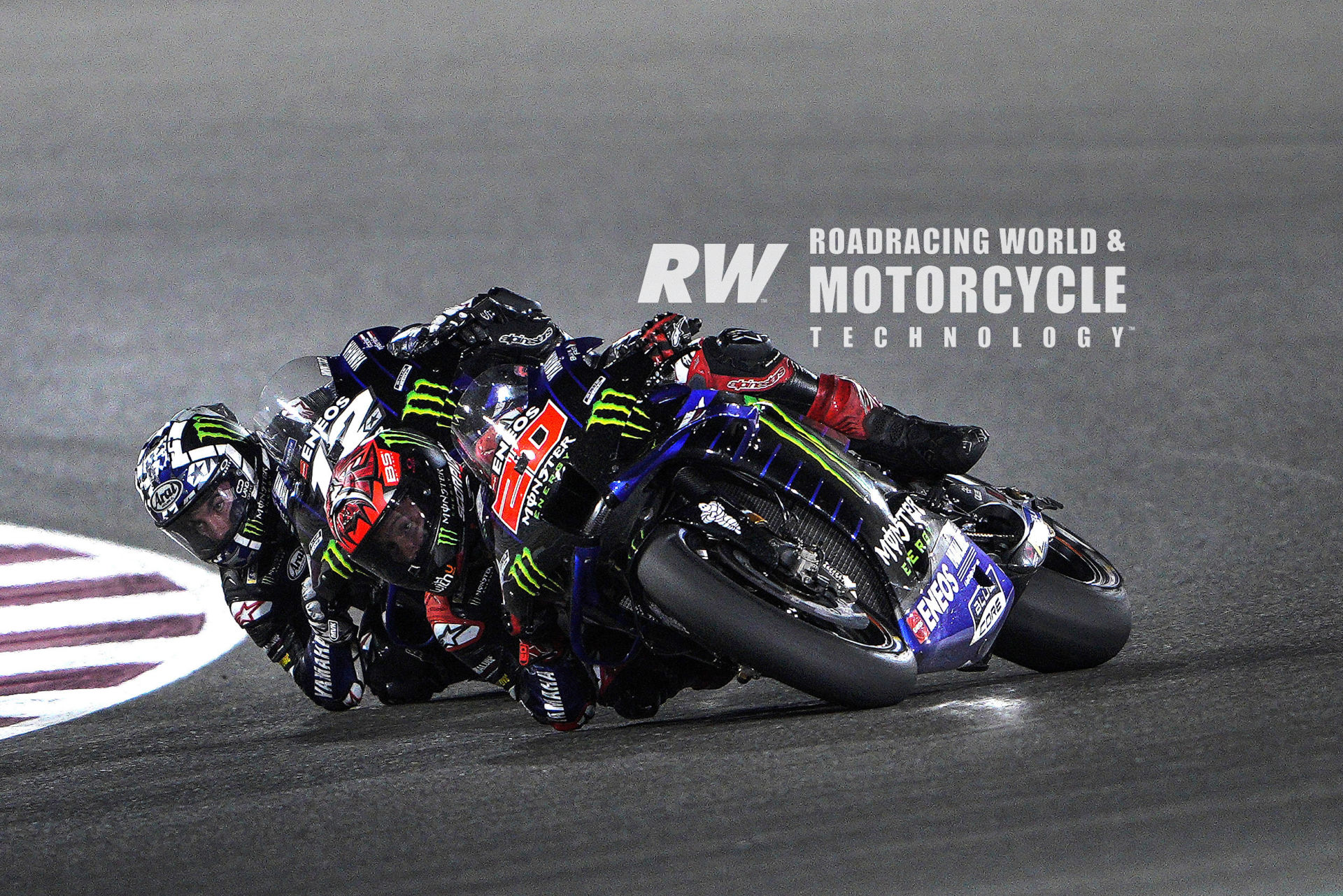 Maverick Viñales (12) and Fabio Quartararo (20) each took a win and a fifth in the opening two MotoGP Grand Prix races of 2021. This may be the first year that Yamaha is a legitimate contender since Jorge Lorenzo won the company's last World Championship in 2015. Photo by DPPI Media.