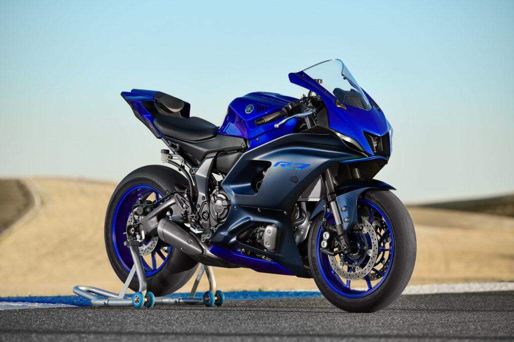 A 2022-model Yamaha YZF-R7. Photo courtesy Yamaha.