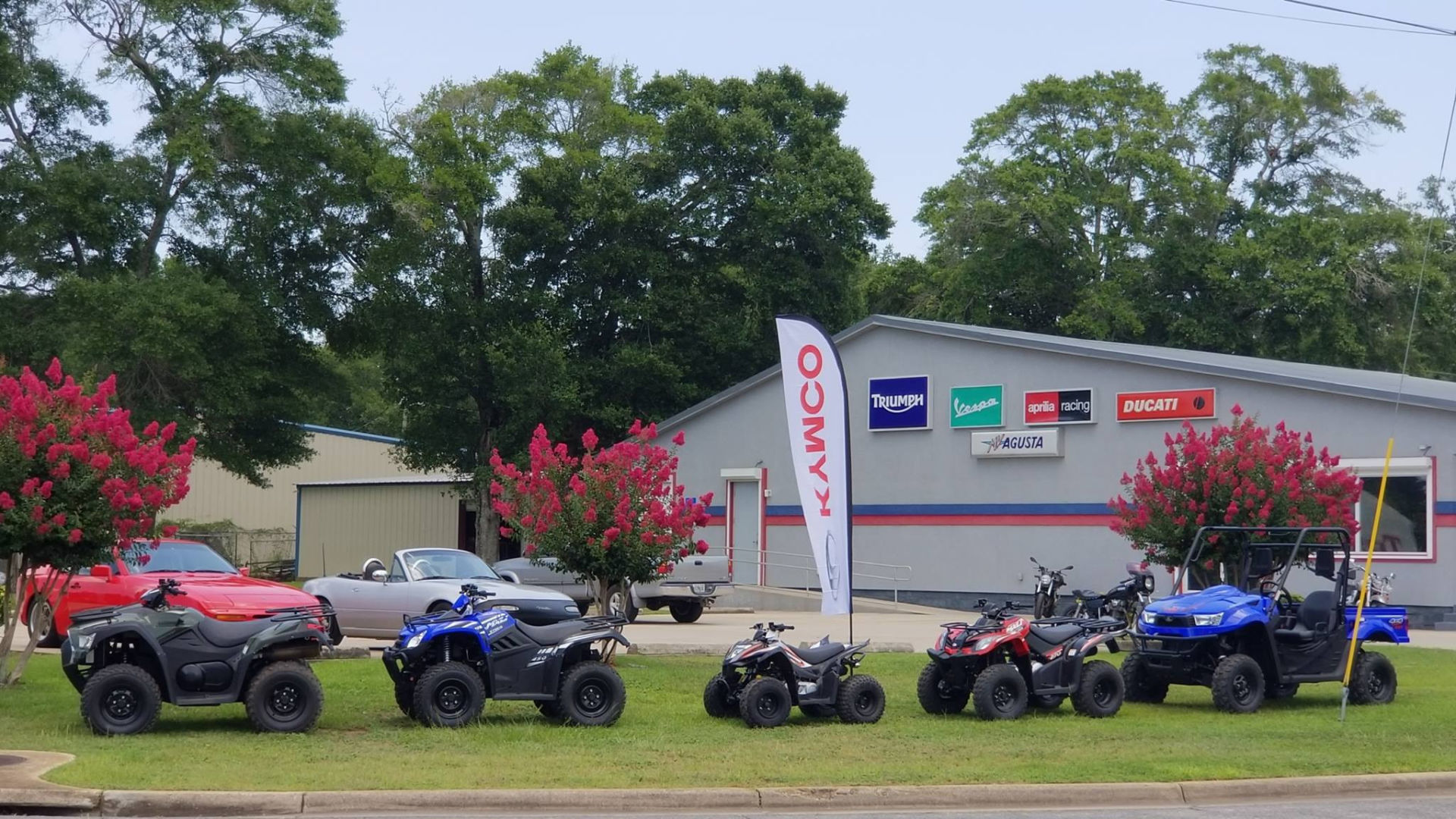 D&D Cycles, a multi-line powersports dealership located in Pensacola, Florida. Photo courtesy D&D Cycles.