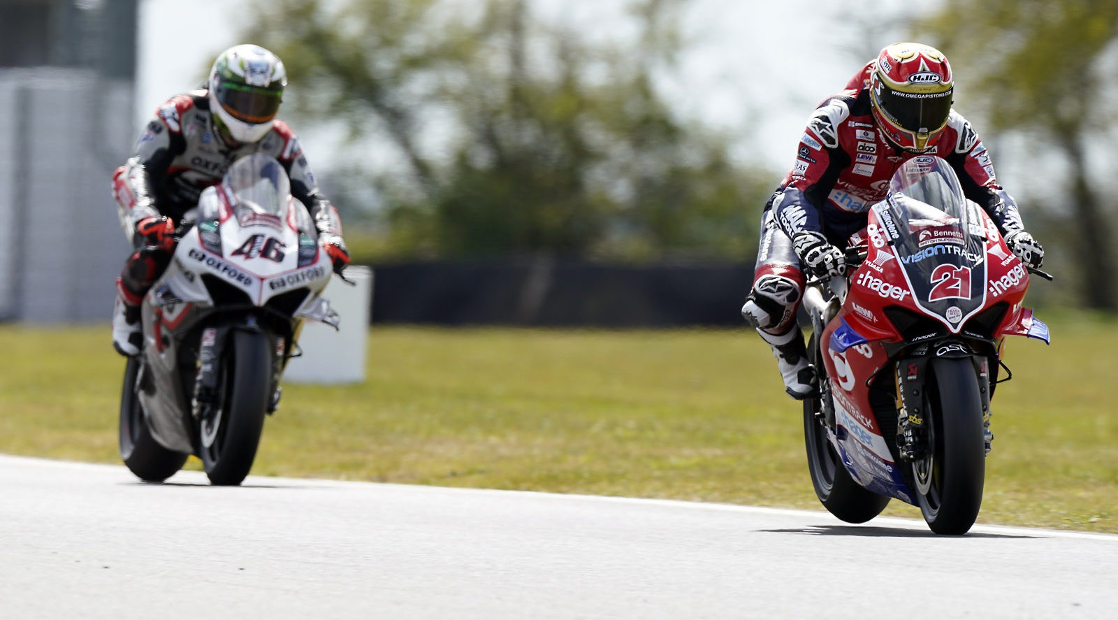 Christian Iddon (21) and Tommy Bridewell (46) testing at Snetterton. Photo courtesy MSVR.