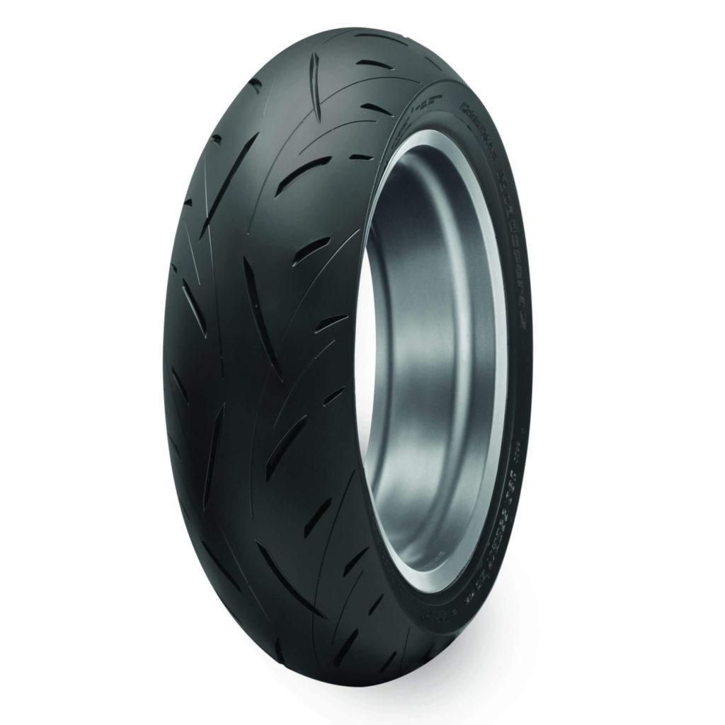 A Dunlop RoadSport2 rear tire. Photo courtesy Dunlop.
